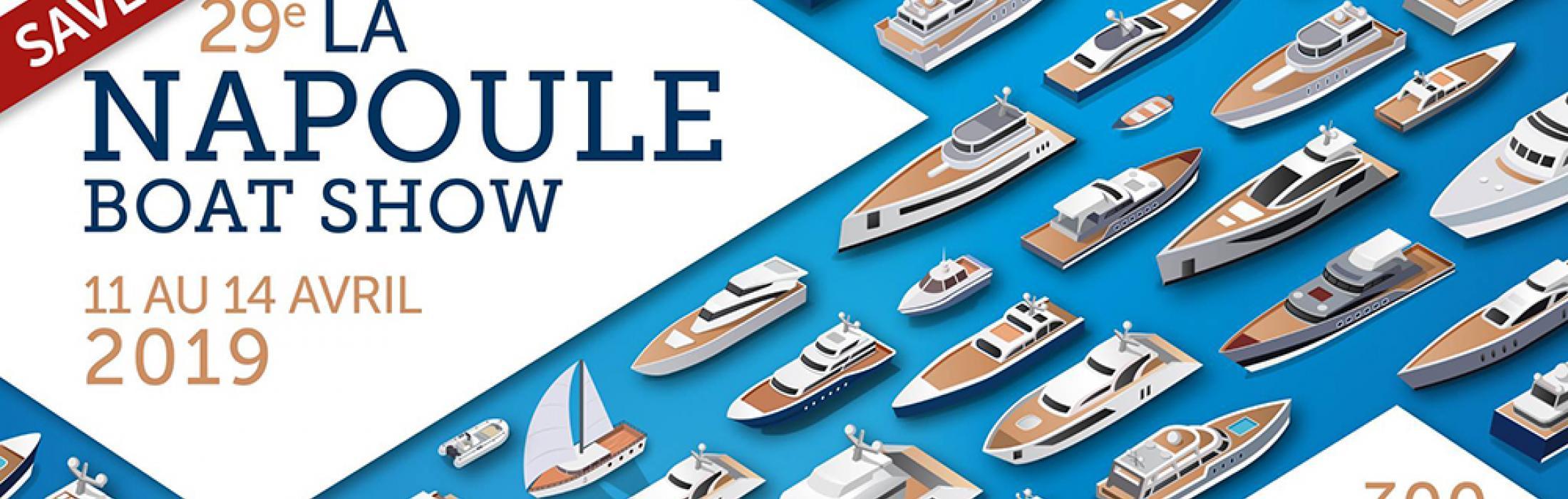La Napoule Boat Show 2019 : salon du bateau neuf et d'occasion du 11 au 14 avril