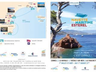 Cet été, pour des déplacements sans embouteillage, pensez à la Navette Maritime Estérel !